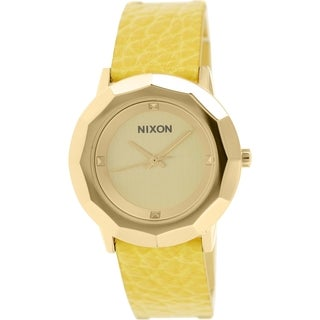 Nixon Women's Bobbi A341501 Gold Leather Quartz Watch