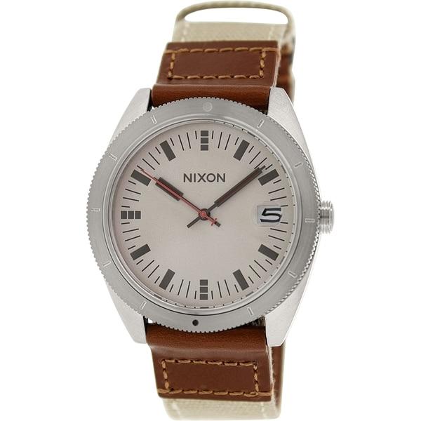 Nixon Men's Rover A3551430 Brown Cloth Quartz Watch