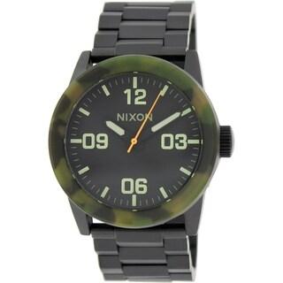 Nixon Men's Private A2761428 Black Stainless Steel Quartz Watch