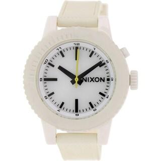 Nixon Women's Gogo A287100 Beige Silicone Quartz Watch