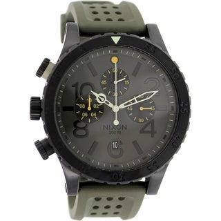 Nixon Men's 48-20 A2781089 Green Rubber Quartz Watch