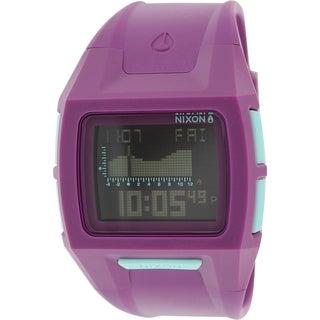 Nixon Women's Lodown A364230 Purple Rubber Digital Quartz Watch