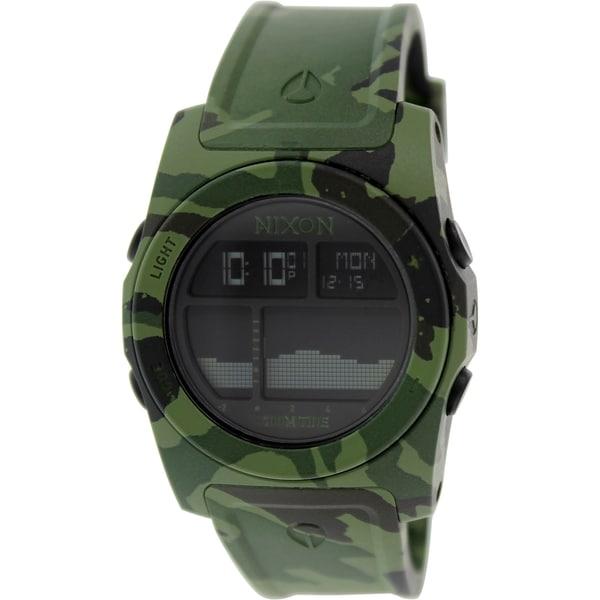 Nixon Men's Rhythm A3851695 Green Rubber Quartz Watch