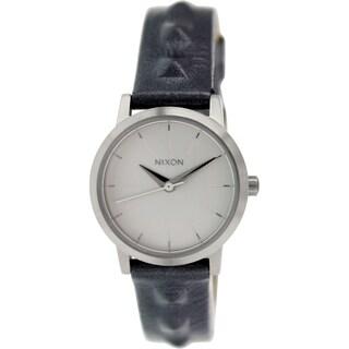 Nixon Women's Kenzi A3981619 Silver Leather Quartz Watch