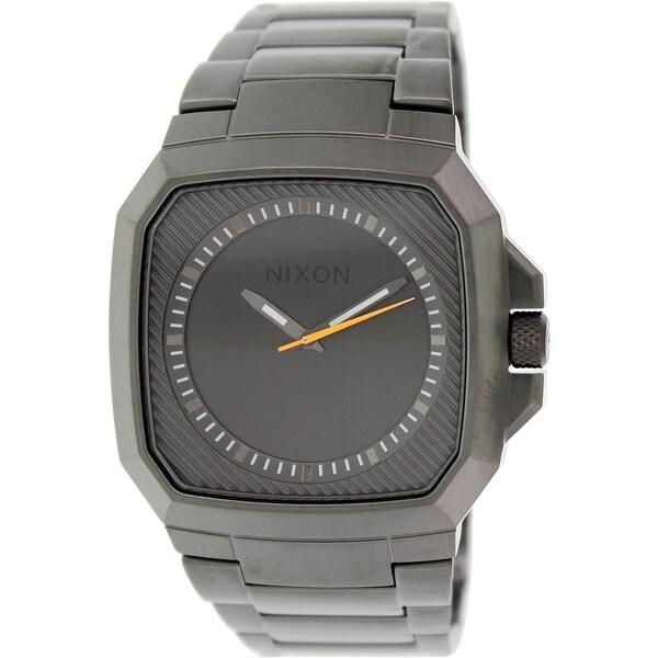Nixon Men's Deck A308632 Grey Stainless Steel Quartz Watch