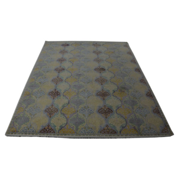 Transitional Cotton Agra Mughal Empire Style Rug (9'5 x 11'10)