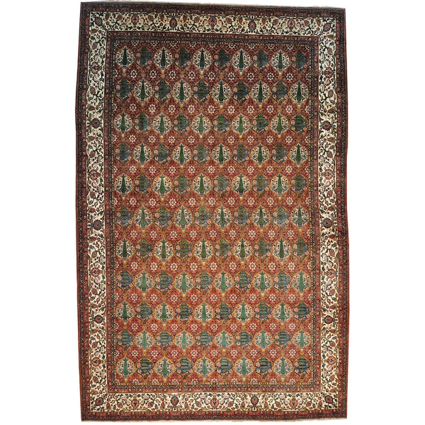 Semi Antique Persian Bakhtiari Mansion Size Hand-knotted Rug (13'2 x 20'7)
