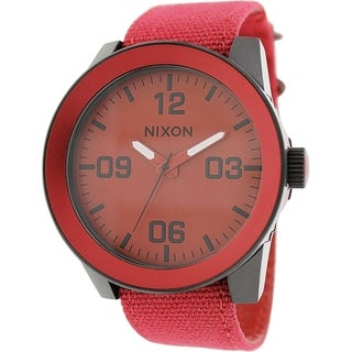 Nixon Men's Corporal A2431368 Red Nylon Quartz Watch