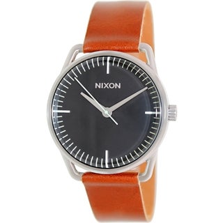 Nixon Men's 'Mellor A1291037' Brown Leather/ Black Dial Quartz Watch
