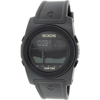 Nixon Men's 'Rhythm A385001' Black Rubber Quartz Tide Watch