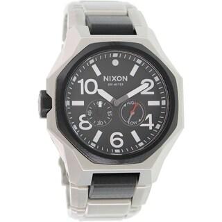 Nixon Men's 'Tangent A397000' Stainless Steel Swiss Quartz Analog Tide Watch