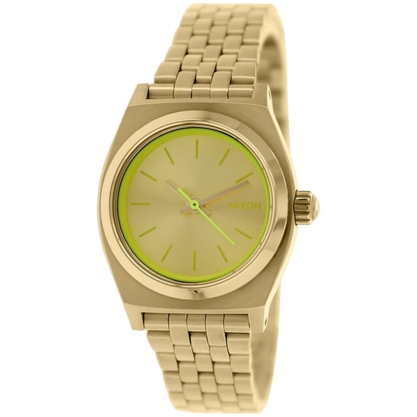 Nixon Women's Time Teller A3991618 Gold Stainless Steel Quartz Watch