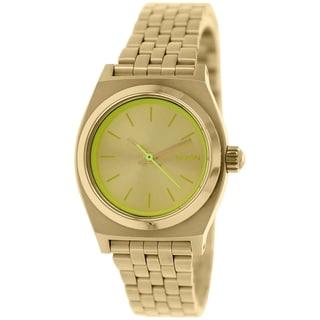 Nixon Women's Time Teller A3991618 Gold Stainless Steel Quartz Watch