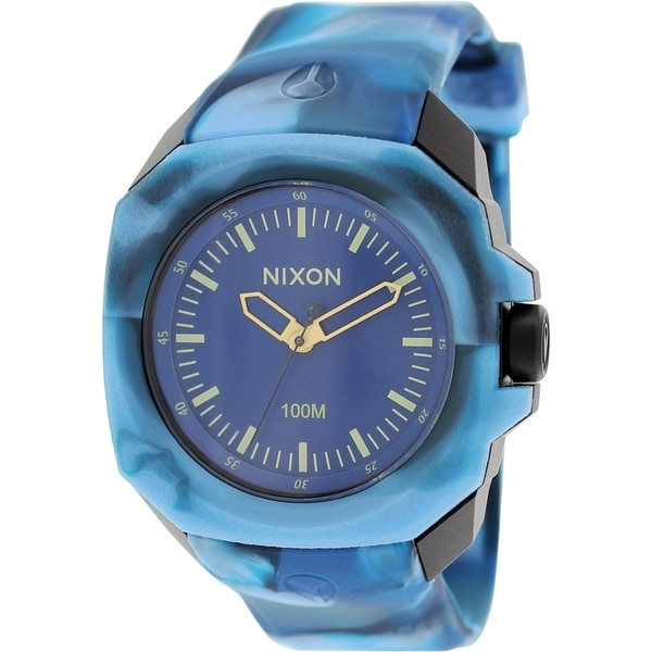 Nixon Men's Ruckus A3491726 Blue Rubber Quartz Watch