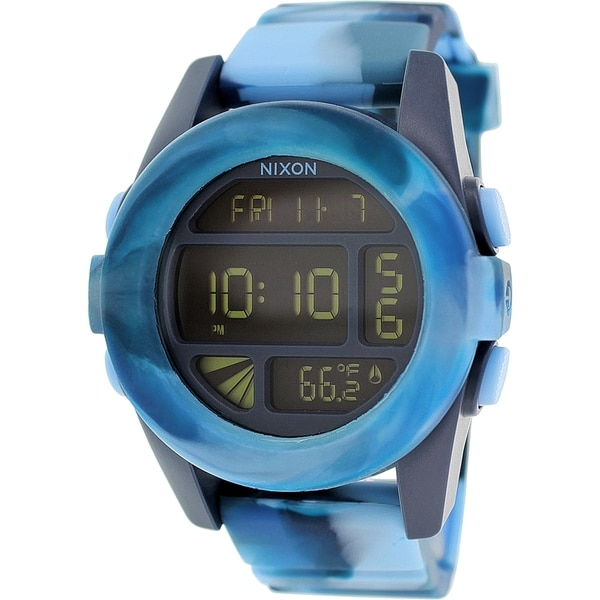 Nixon Men's Unit A1971726 Blue Silicone Quartz Watch