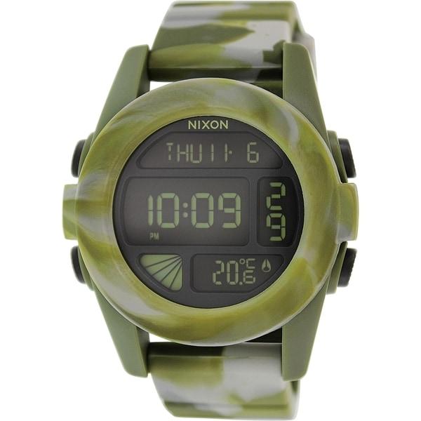 Nixon Men's Unit A1971727 Green Silicone Quartz Watch