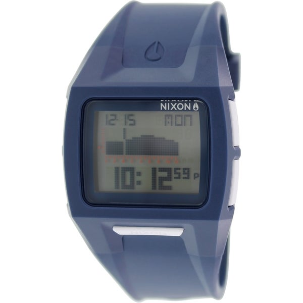 Nixon Men's Lodown A289307 Blue Silicone Watch