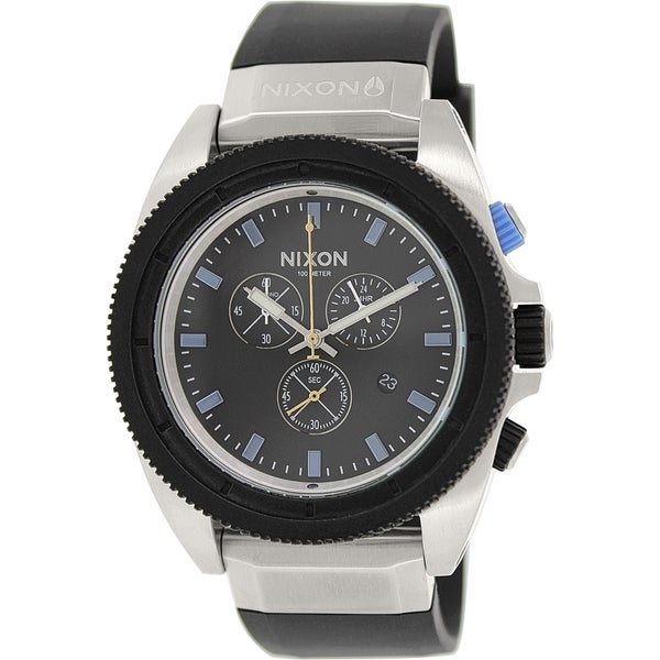 Nixon Men's Rover A2901529 Black Rubber Quartz Watch