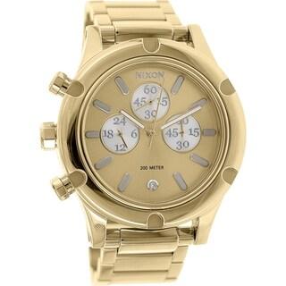 Nixon Women's Camden A3541219 Gold Brass-plated Stainless Steel Quartz Watch