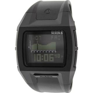 Nixon Men's Lodown A364000 Antique Black Rubber Quartz Watch