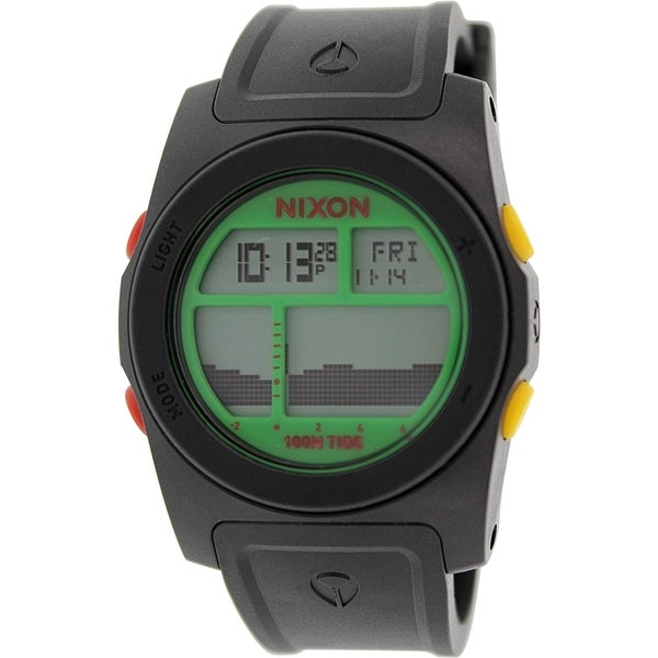 Nixon Men's Rhythm A3851329 Black Rubber Quartz Watch
