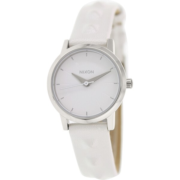Nixon Women's Kenzi A3981811 White Leather Quartz Watch