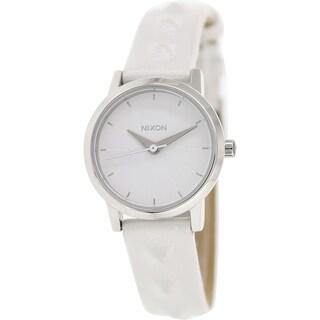 Nixon Women's Kenzi A3981811 White Leather Quartz Watch