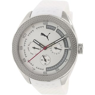 Puma Men's PU103252003 White Silicone Analog Quartz Watch