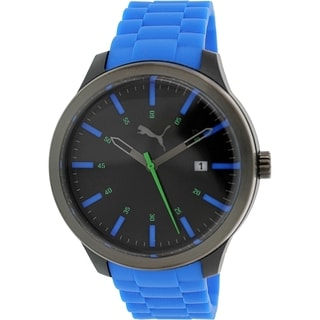 Puma Men's PU103612003 Blue Silicone Analog Quartz Watch