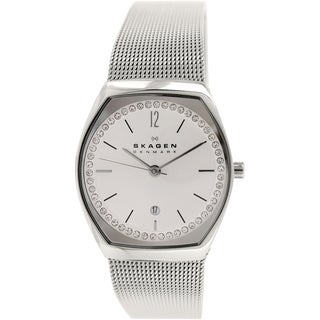 Skagen Women's SKW2049 Asta Diamond Silver Dial Stainless Steel Mesh Bracelet Watch