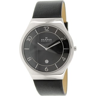 Skagen Men's Grenen SKW6115 Black Leather Quartz Watch