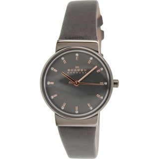Skagen Women's Ancher SKW2194 Grey Leather Quartz Watch