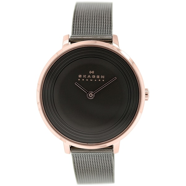 Skagen Women's Ditte SKW2277 Charcoal Grey Stainless Steel Quartz Watch