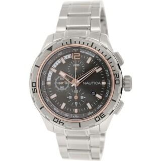 Nautica Men's Nst 101 N24550G Stainless Steel Quartz Watch