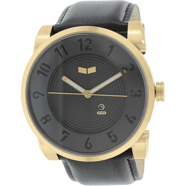 Vestal Men's Doppler DOP014 Black Leather Quartz Watch