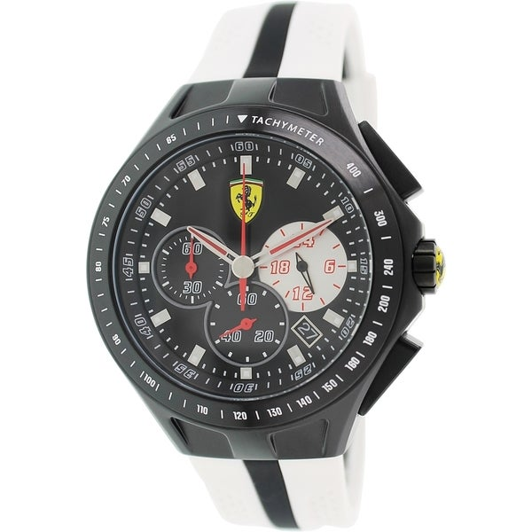 Ferrari Men's Sf103 0830026 White Silicone Analog Quartz Watch
