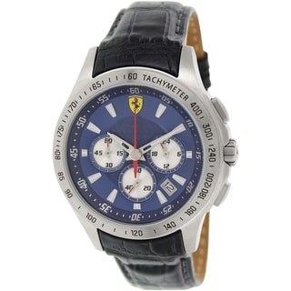 Ferrari Men's Sf105 0830041 Blue Leather Quartz Watch