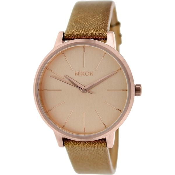 Nixon Women's Kensington A1081923 Brown Leather Quartz Watch