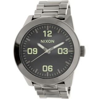 Nixon Men's Corporal A3461885 Gunmetal Stainless-Steel Quartz Watch