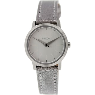 Nixon Women's Kenzi A3981878 Silver Leather Quartz Watch