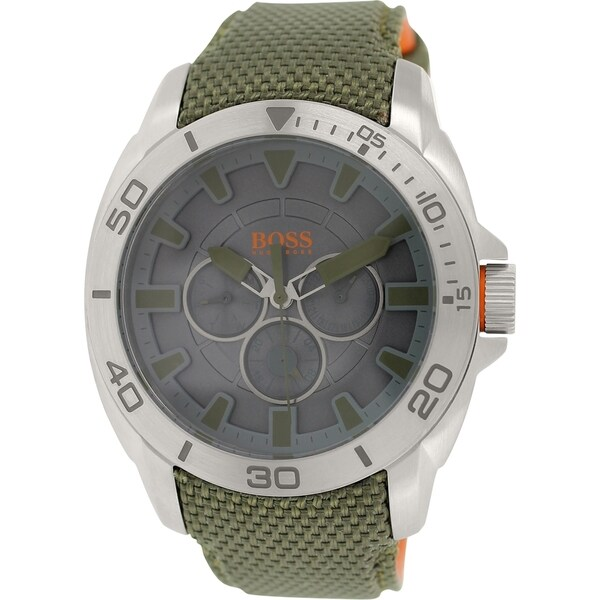 Hugo Boss Men's 1513015 Green Nylon Strap Watch