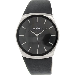 Skagen Men's Havene SKW6017 Black Leather Quartz Watch