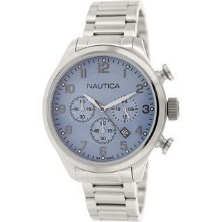 Nautica Men's Bfd 101 N17647G Stainless Steel Quartz Watch