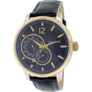 Nautica Men's Nct 15 NAD16501G Blue Leather Quartz Watch