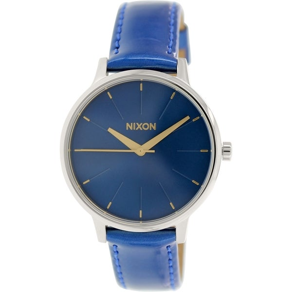 Nixon Women's 'Kensington' A1081395 Blue Leather Quartz Watch