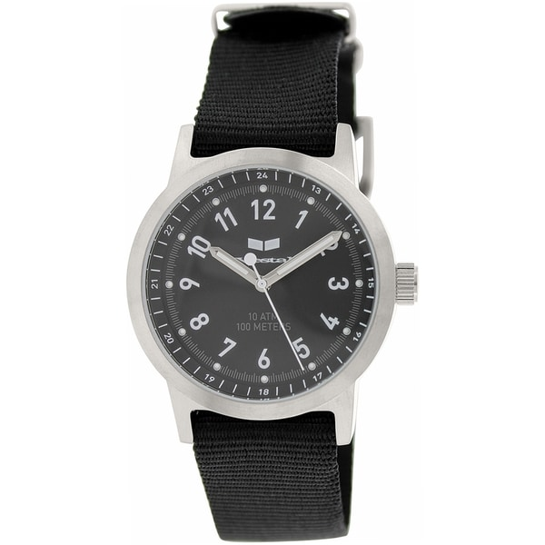 Vestal Men's 'Alpha Bravo Zulu' ABZ3C01 Black Cloth Quartz Watch
