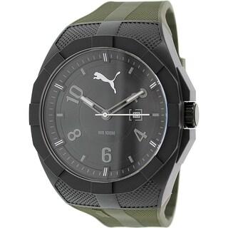 Puma Men's 'Iconic' PU103501007 Green Silicone Analog Quartz Watch
