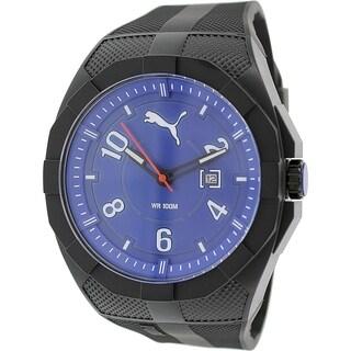Puma Men's Iconic PU103501008 Black Silicone Analog Quartz Watch
