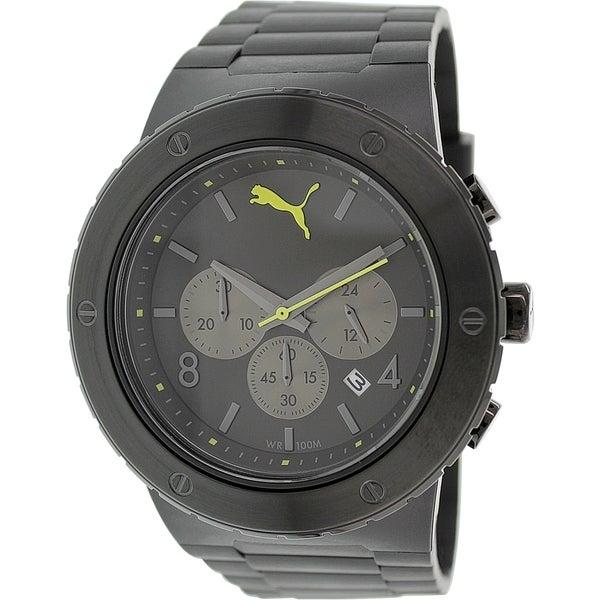Puma Men's PU103701002 Black Silicone Analog Quartz Watch