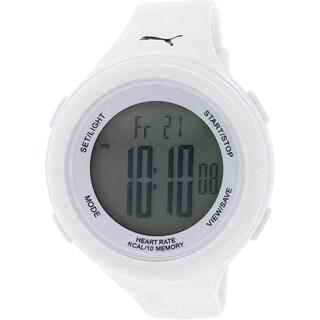 Puma Men's Fit PU910961002 White Rubber Quartz Watch